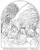 Coloring Jesus Adult Burial Grimm Fra Angelico Pages Scriptorium sketch template