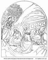 Coloring Jesus Adult Burial Grimm Angelico Fra Scriptorium sketch template