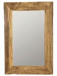 Miroir Cadre Bois : housedoctor miroir cadre en bois recycl brun 60x90 cm ~ Teatrodelosmanantiales.com Idées de Décoration