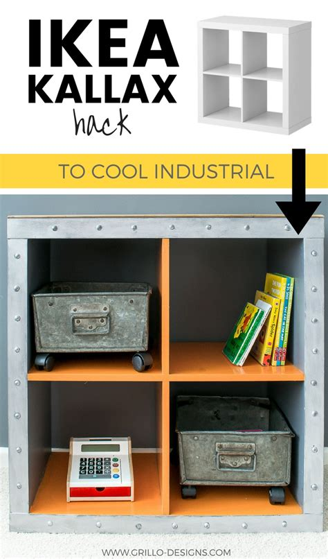 Ikea Hack Kallax by Ikea Kallax Hack Industrial Storage For A Boys Bedroom