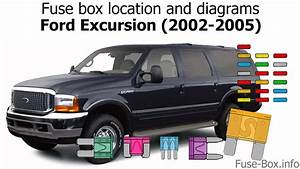 Fuse Box Location And Diagrams  Ford Excursion  2002-2005