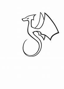 Simple Dragon Tattoo - Interior Home Design