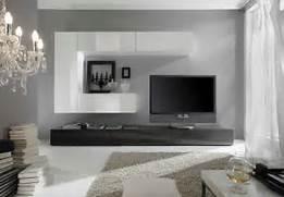 Designer Wohnwand Wei Hochglanz