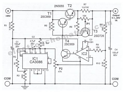 Circuit Diagram Of Adjustable Power Supply