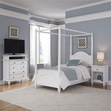 sears canopy bed home styles bermuda white canopy bed stand and