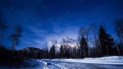 Night Nature Scene Mountain Landscape Scenery Forest
