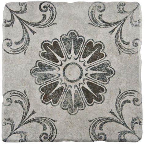 floor decor wall tile merola tile costa cendra decor fleur 7 3 4 in x 7 3 4 in ceramic floor and wall tile 11 5 sq