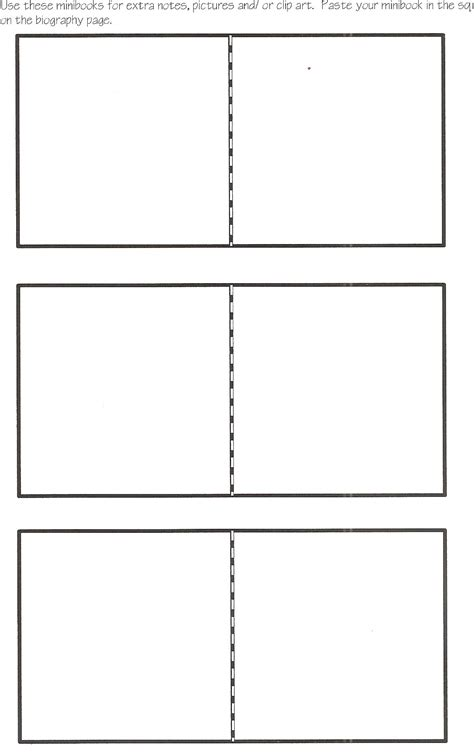Book Template In by Mini Book Template Could Be Used As A Chapter Summary
