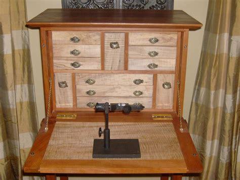 fly tying desk finished  leighty  lumberjockscom