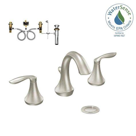 enamel kitchen sink moen 8 in widespread 2 handle bathroom faucet trim 3564