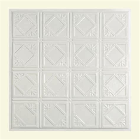 White Tin Ceiling Tiles Home Depot by Great Lakes Tin Ludington 2 Ft X 2 Ft Lay In Tin Ceiling