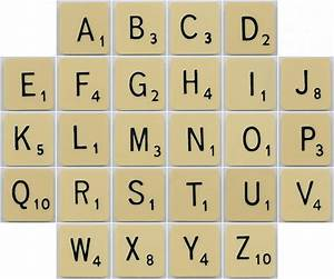creative outlets of a thrifty minded momma scrabble tile With tile numbers and letters