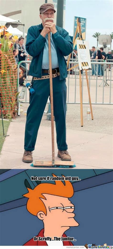 Janitor Meme - scruffy the janitor by woody92 meme center