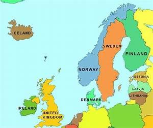 Map Of Northern Europe   Map of Northern Europe   My ...