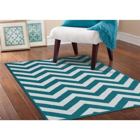 Teal Rug Walmart by Somette Zigzag Teal White Area Rug 5 X 7 Walmart
