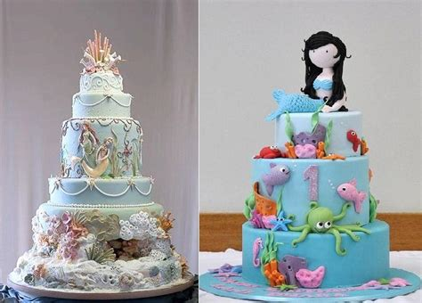 Mermaid Cakes & Tutorial