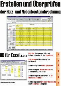 Nebenkosten Abrechnung : shareware4u heiz und nebenkosten f r excel ~ Themetempest.com Abrechnung