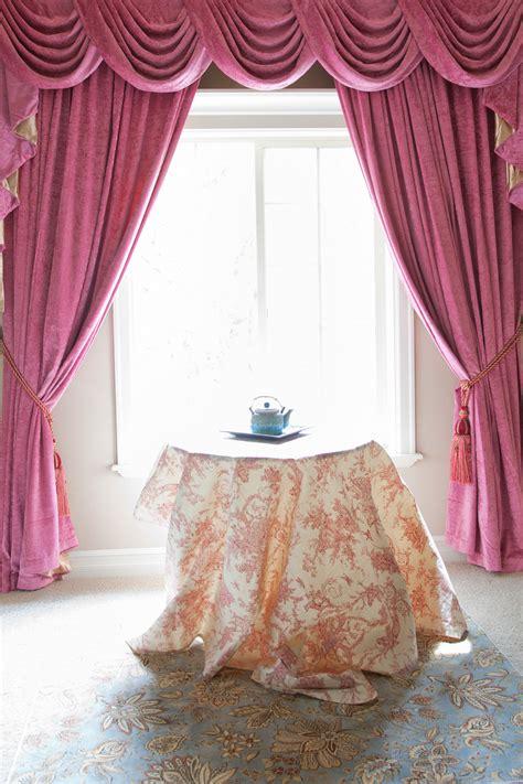 drapes and valances pink chenille swag valance drapes