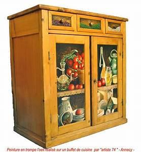 Peinture Sur Meuble : peinture en trompe l oeil annecy decoration meubles et ~ Mglfilm.com Idées de Décoration