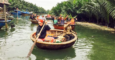 Boat Ride Hoi An by From Hoi An Market Tour Basket Boat Ride And Cooking Class