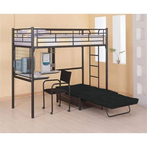 bunk bed with desk and coaster max twin over futon metal bunk bed with desk in