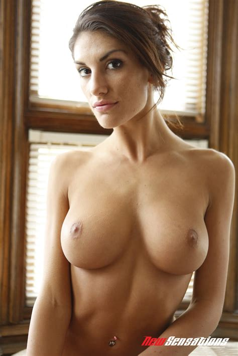 gorgeous busty brunette august ames shows off her perfect