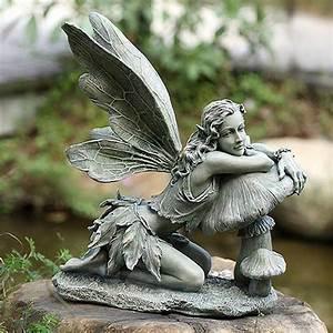 Delphinia, Garden, Color, Fairy, Statue