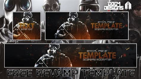free gfx rainbow six siege social media rev template