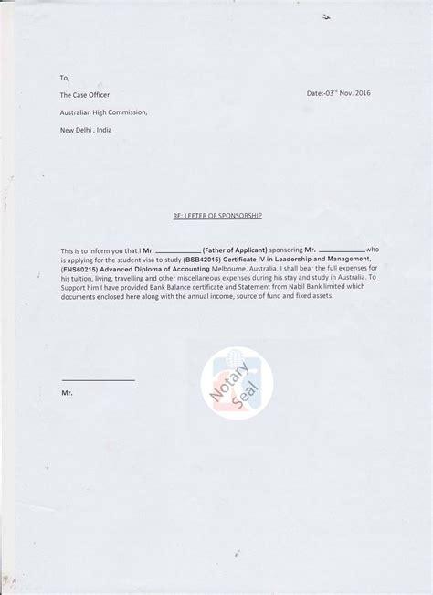 sponsorship certificate affidavit  support kiec