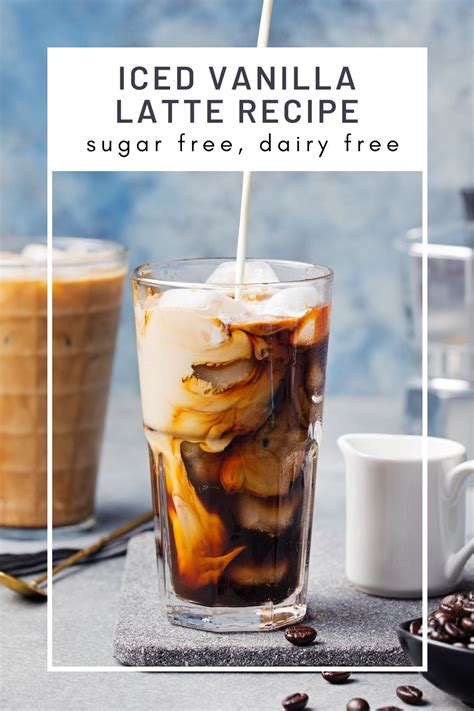 There are 6 calories in 1 coffee cup of iced coffee with milk. Skinny Iced Vanilla Latte Coffee Recipe in 2020 | Iced ...