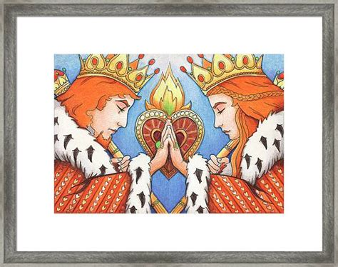 Nothing adds personality and color quite like a gallery wall. King And Queen Of Hearts Drawing by Amy S Turner