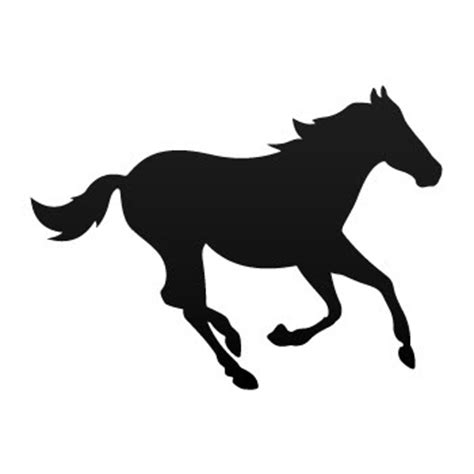 mustang horse silhouette mustang horse clip art cliparts co