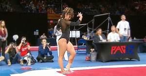 Gymnast Prepares For 'Michael Jackson' Routine. Incredible ...