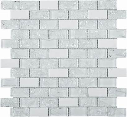 Tile Glass Crushed Brick Mosaic Marble Mesh