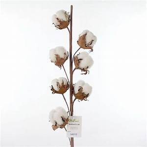 artificial cotton flower branch