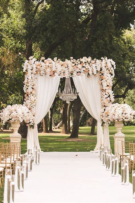 Homespun Curtains by Picture Of Stunning Blush Peach And Ivory Floral Wedding
