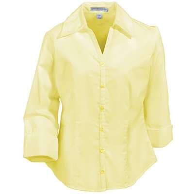 light yellow blouse port authority shirts 39 s pale yellow open neck