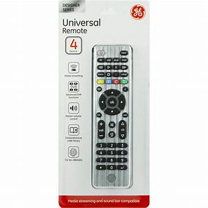 Ge 33709 Universal Remote  4 Devices  Brushed Silver