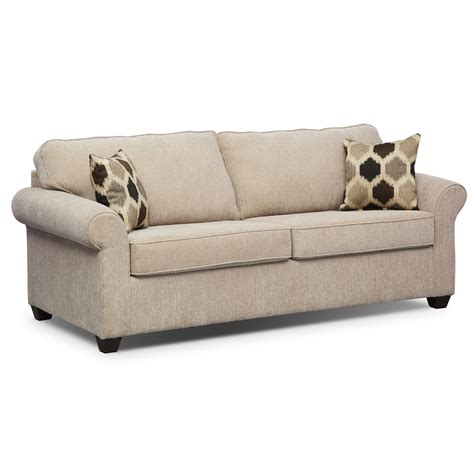 value city furniture sleeper sofa fletcher queen innerspring sleeper sofa beige value
