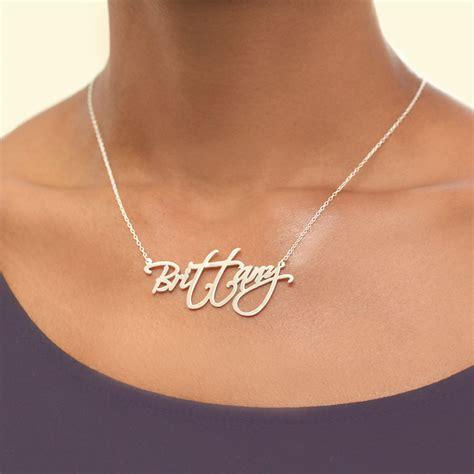 modern script  necklace monogram