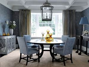 creative neat dining room table with blue and white dining With how to decorate blue dining room