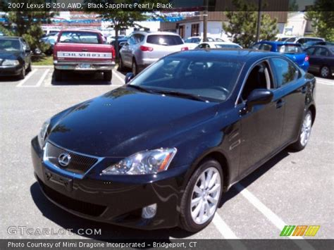 black lexus 2007 black sapphire pearl 2007 lexus is 250 awd black