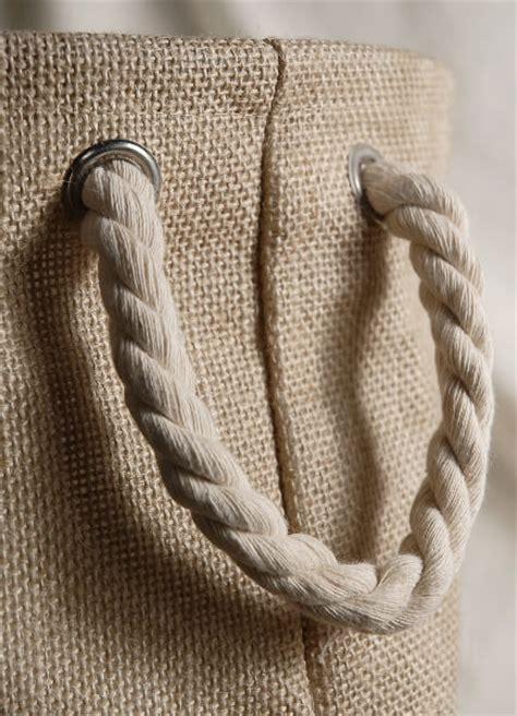 burlap bag  rope handles