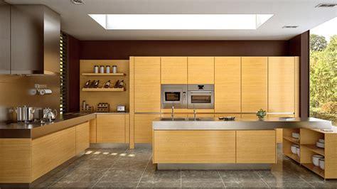 wooden matte finished kitchen designs home design lover