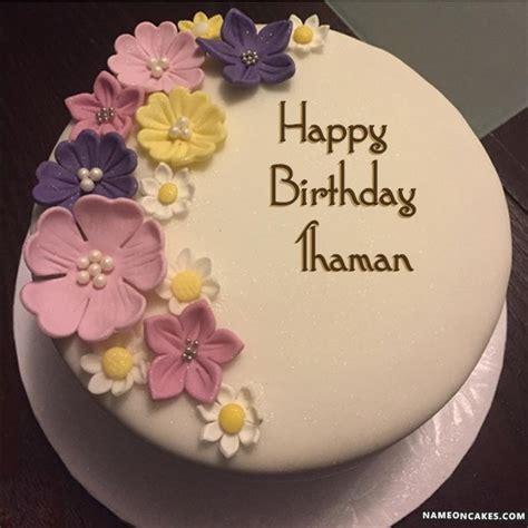 happy birthday thaman cake images