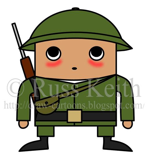 draw cartoons chibi soldier