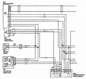 Mercedes-benz 300sl  1990 - 1993  - Wiring Diagrams - Audio