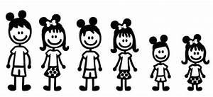 Items similar to Disney Stick Figure Family set of 5 on Etsy