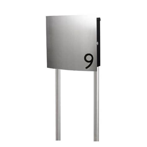 standbriefkasten mit hausnummer design edelstahl standbriefkasten mit hausnummer se10 smartes wohnen