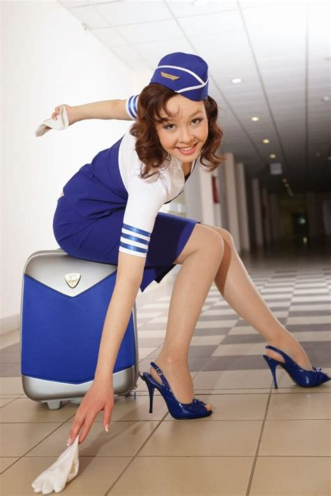 Photography Of Sweetie Stewardess Costume ~ World Stewardess Crews